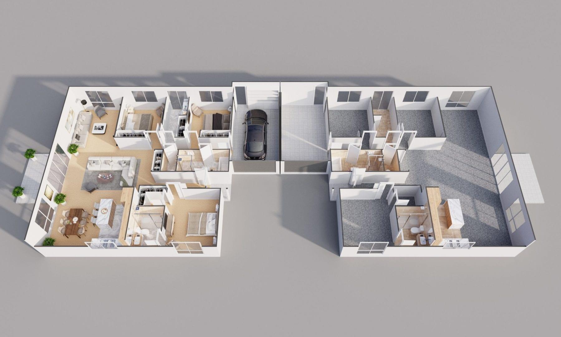 Visual Render 3D Floor Plan